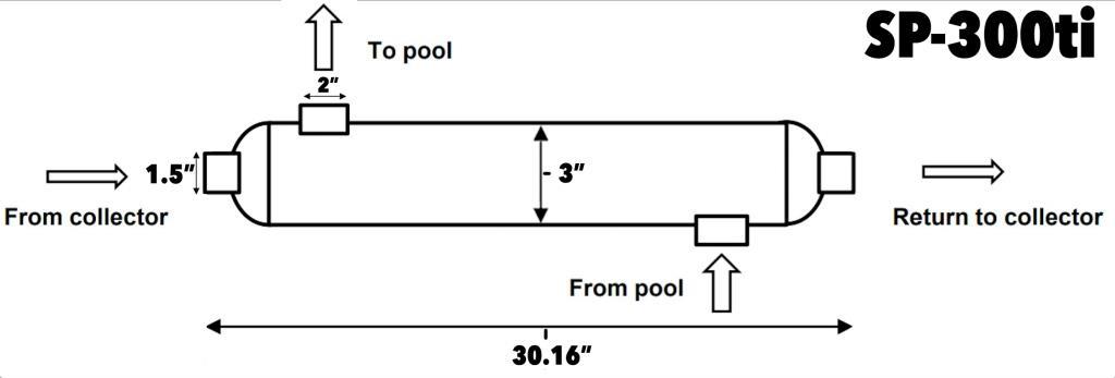 specs on 300 titanium solar pool heat exchanger