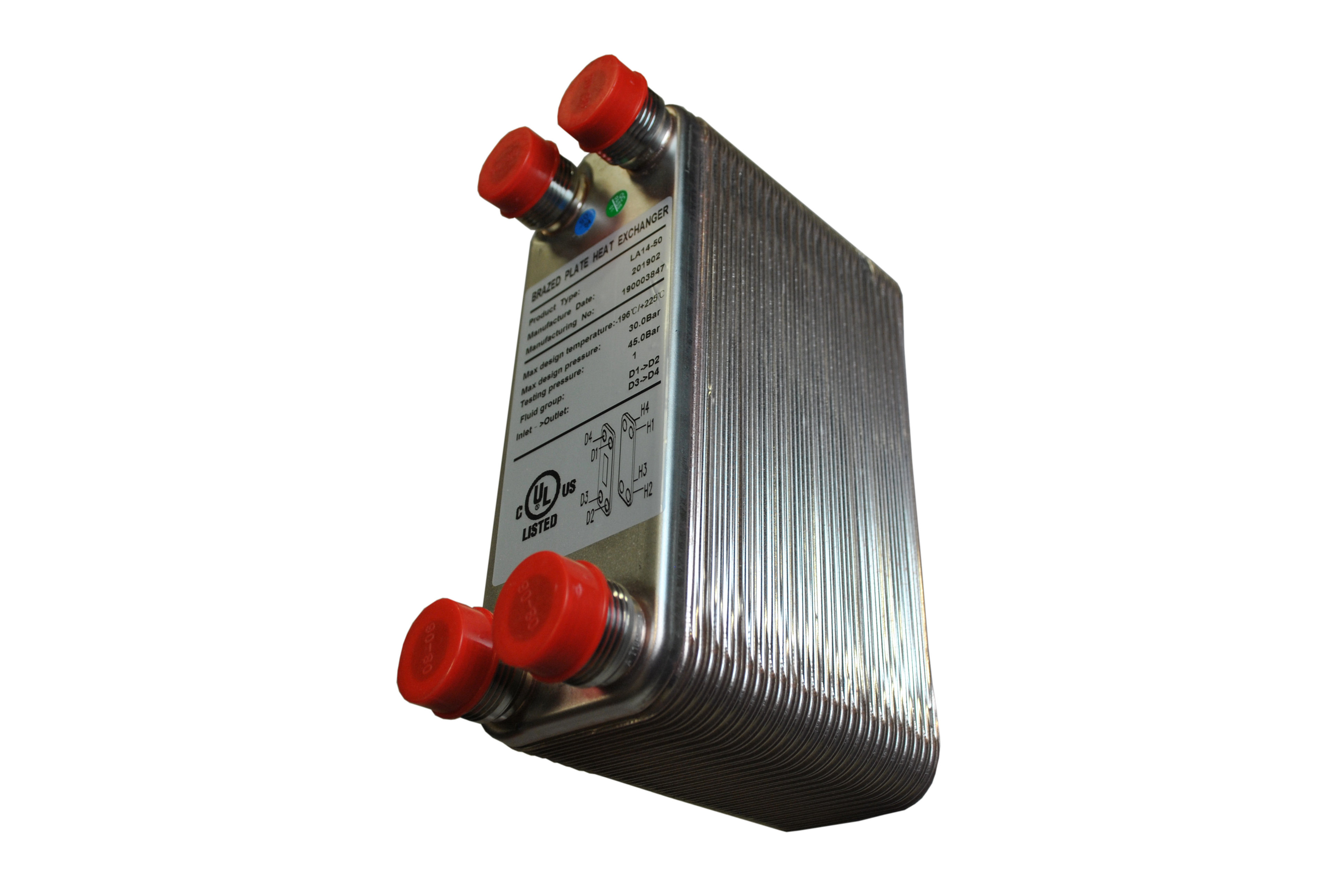 solar heat exchanger brazed copper large