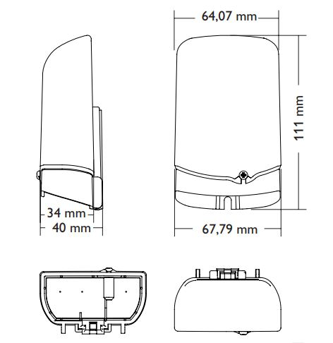 RESOL FRH Humidity sensor Dimensions