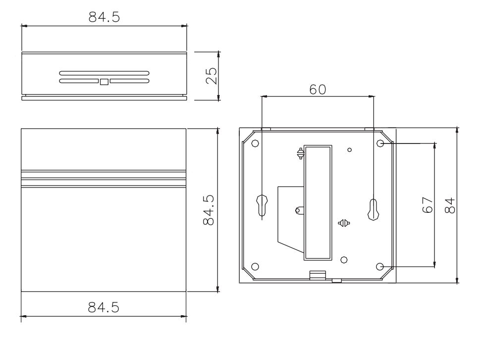 RESOL FRH Humidity sensor Dimensions