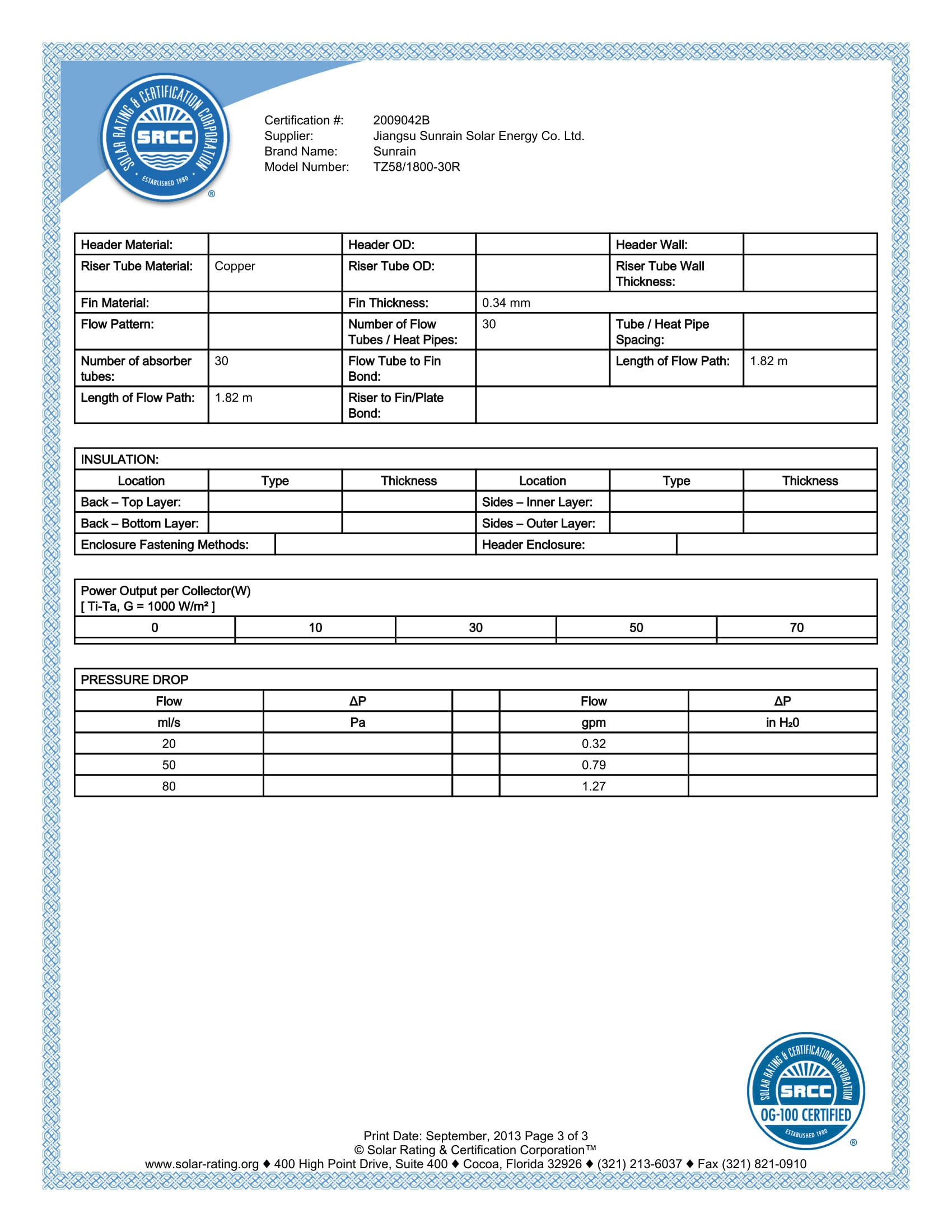 SRCC 30r Report