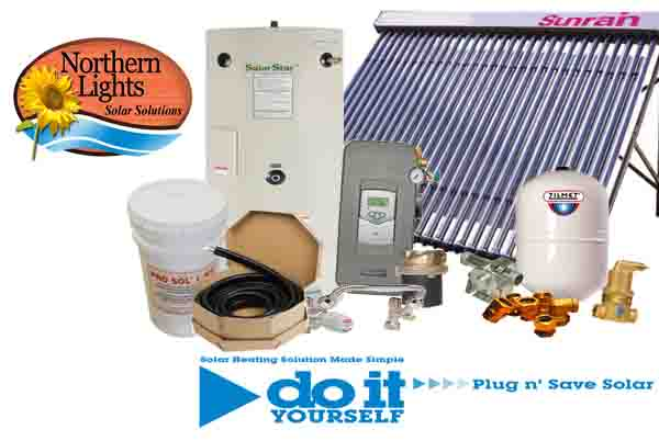 complete solar water heating package