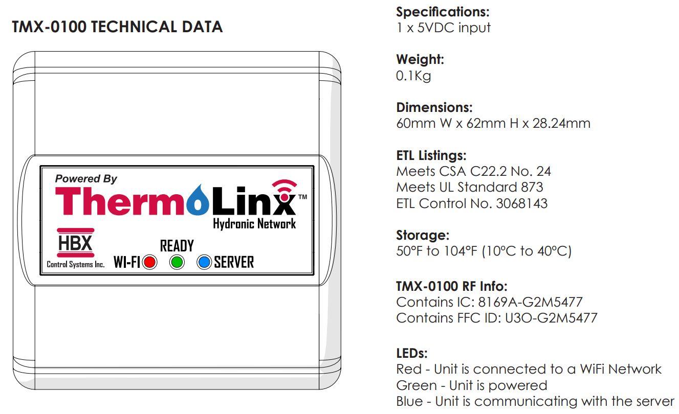 HBX TMX-0100 Tech Data