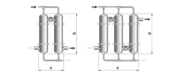 multiple pool heat exchangers in series