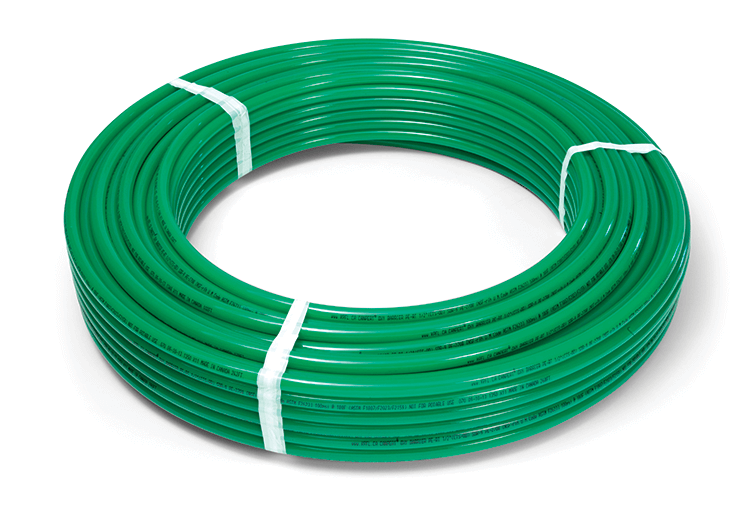"Radiant Piping 100' X 1"" - Vipert PE-RT with Oxy Barrier - Green"