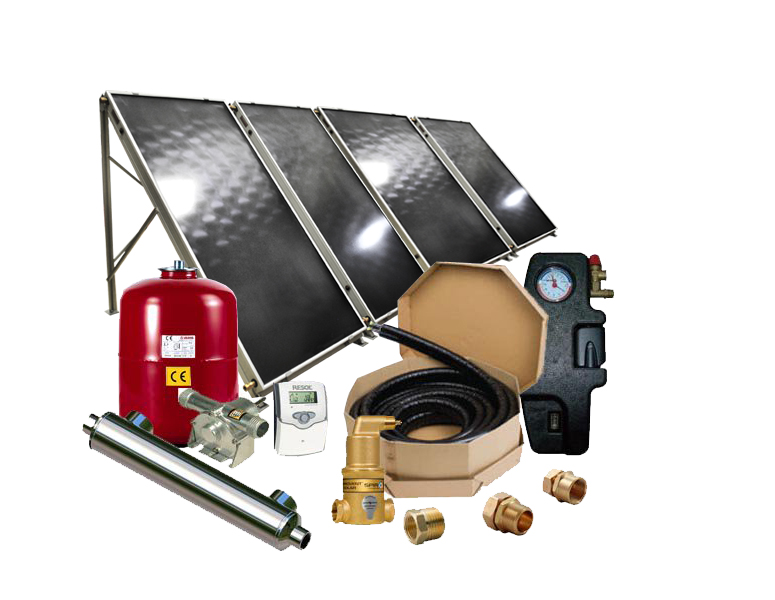 Solar Pool Heater -Flat Panel Collector Solar Pool Heating System - SPH-F4