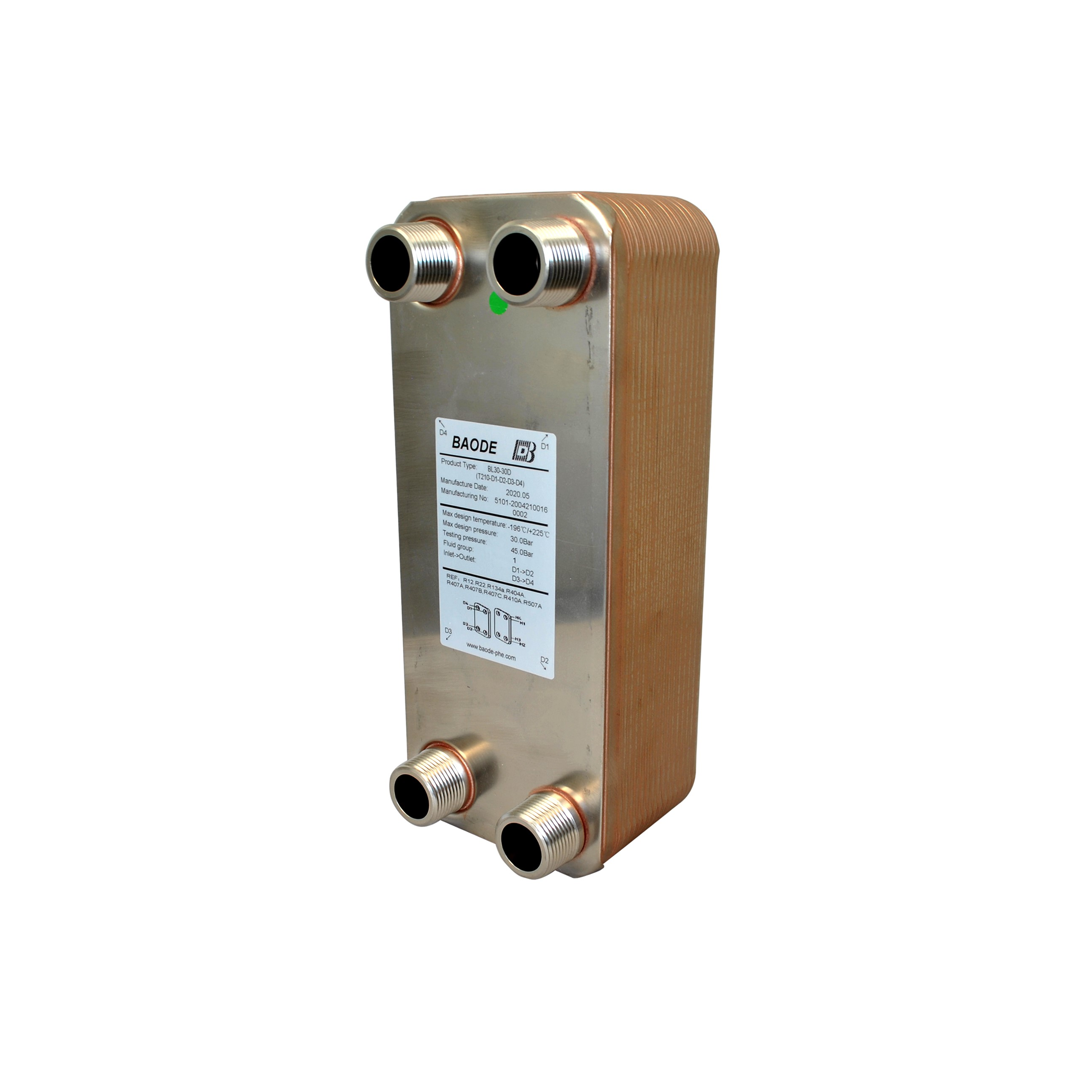 Baode BL26C Flat Plate Heat Exchanger 30 Plate