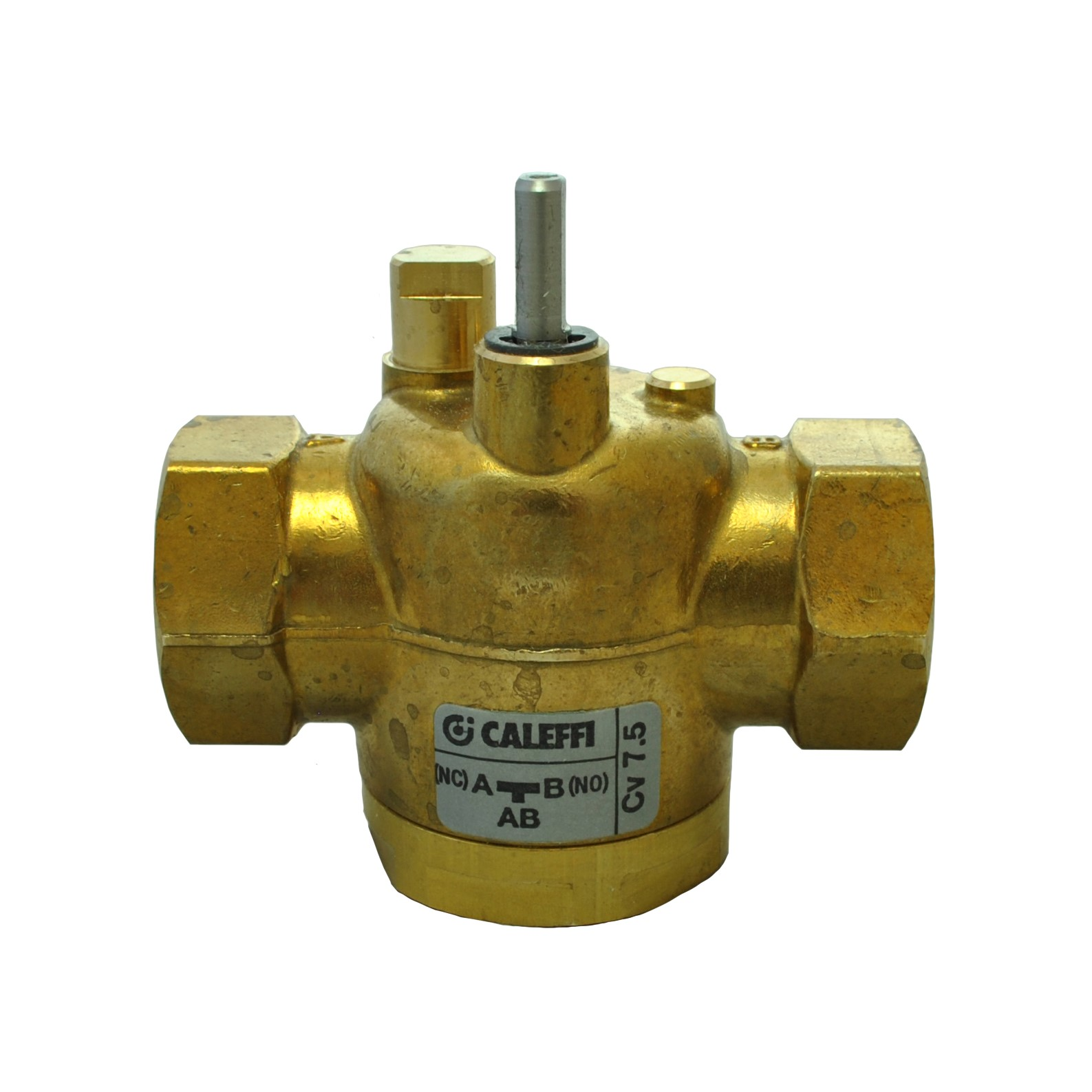 "Caleffi Z-one - 3/4"" NPT 3-way Straight Valve Body for Motorized Zone Valves"