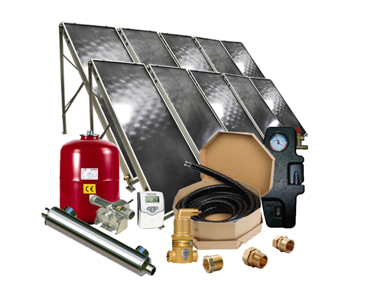 Solar Pool Heater -Flat Panel Collector Solar Pool Heating System - SPH-F10