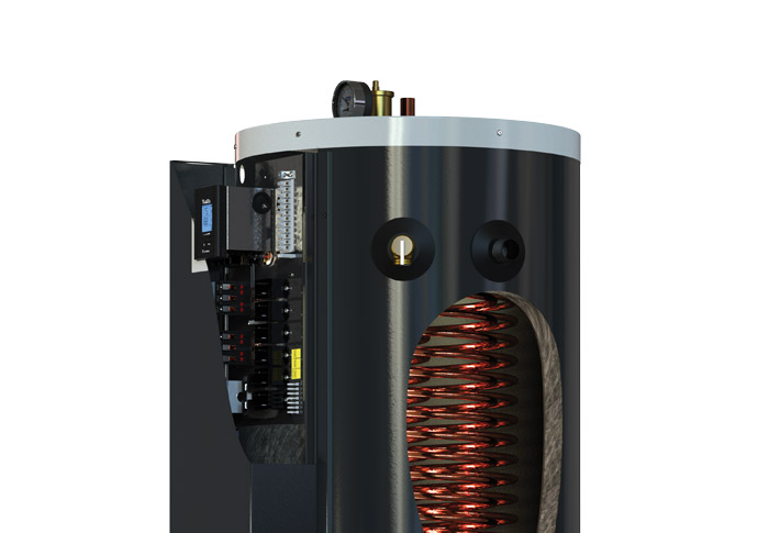Optional domestic hot water coil