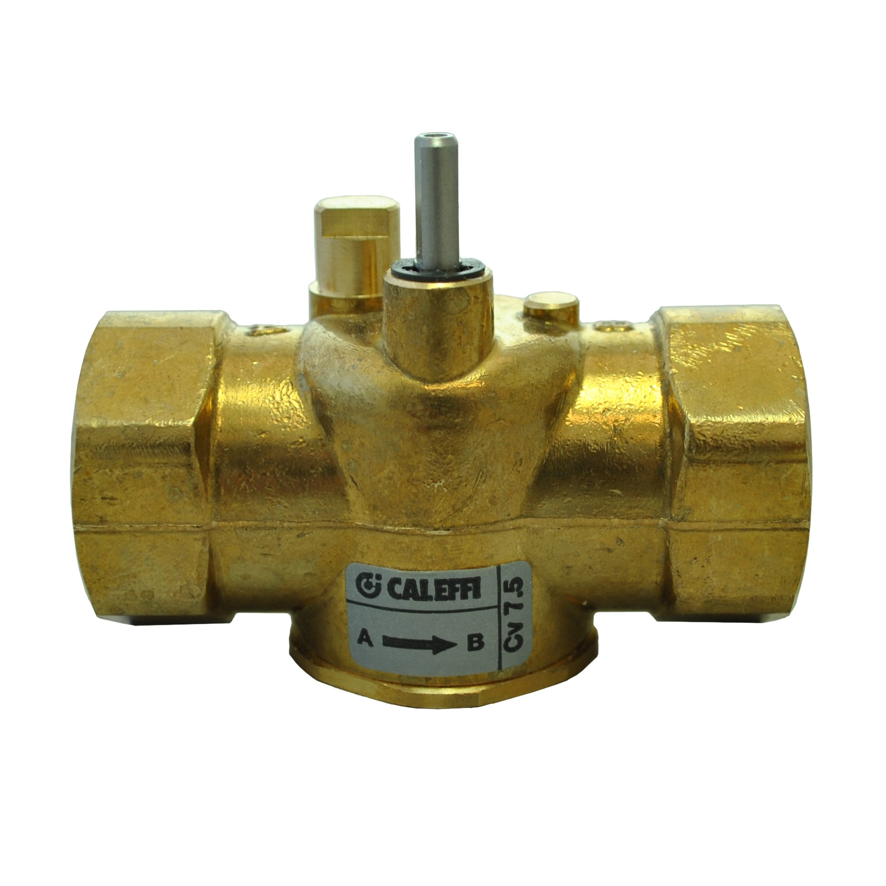 "Caleffi Z-one - 1"" NPT 2-way Straight Valve Body for Motorized Zone Valves"