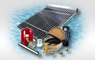 SolarPool Heaters Guaranteed to work in even cloudy conditions. Full package systems make installation fast and easy.